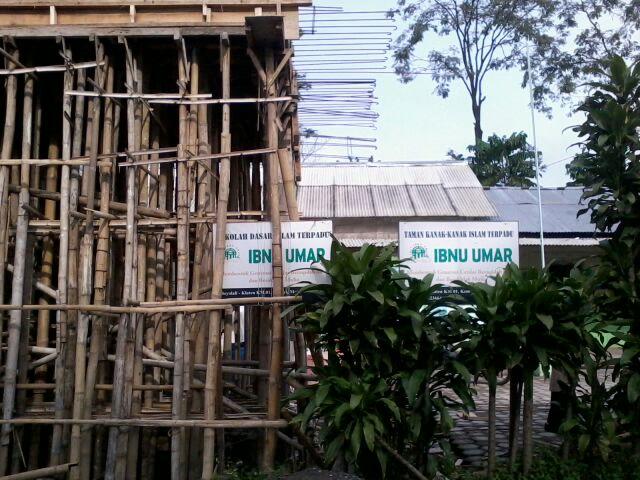 TKIT & SDIT Ibnu Umar yang masih dalam tahap pembangunan.