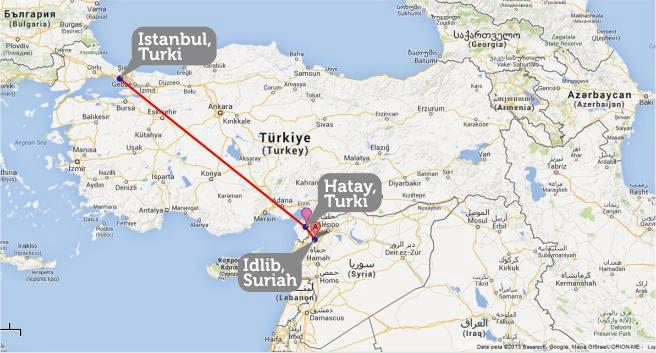 Rute perjalanan tim Peduli Muslim